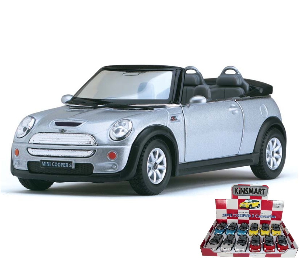"Mini Cooper S Convertible 1:28 (5"" Asstd Colour) KT5089D"